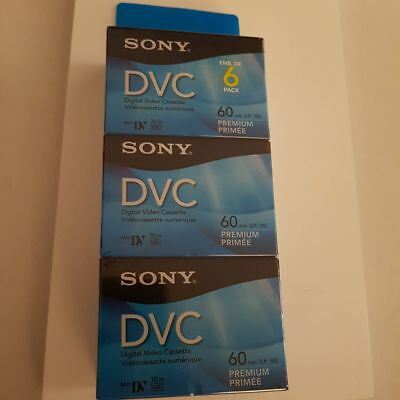 Sony Digital Video Casette 60 min 6 pack
