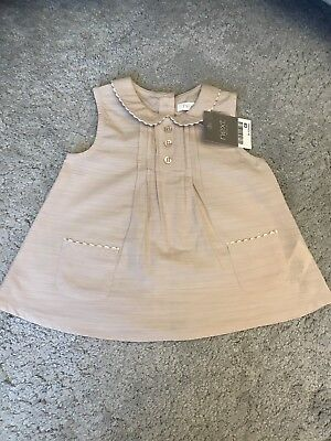 Bnwt Baby Girls Dusky Pink Blouse Top 9-12 Months