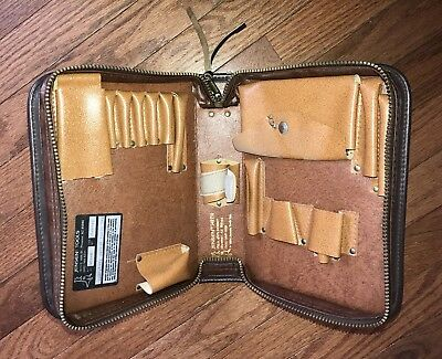 Jensen Brown Electrical Tool Bag 548956 LEATHER ZIPPERED NICE