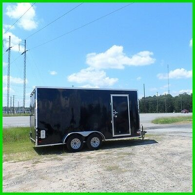 7x16 7' interior hgt 2' v nose 18ft inside enclosed cargo motorcycle trailer New