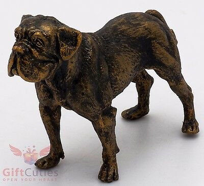 Tin Pewter Figurine of Dogue de Bordeaux French Mastiff Dog IronWork