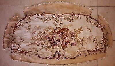 Two Large Antique Sofa Tapestry Upholstery With Flowers