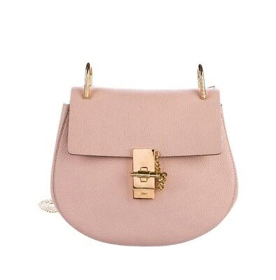 80142bbf1aa CHLOE PINK LEATHER Mini Drew Crossbody Shoulder Handbag - $810.00 ...