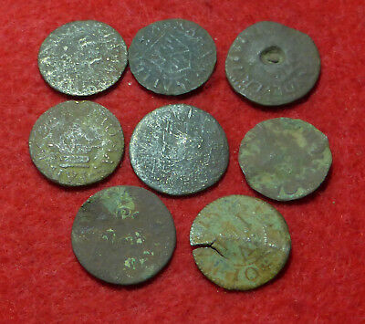 8 17th C Tokens