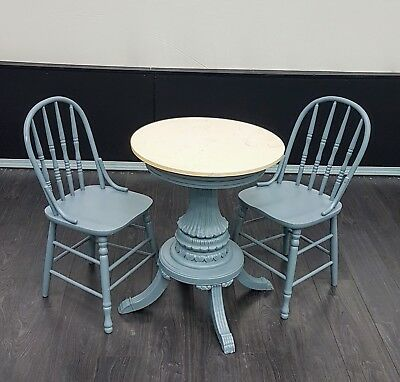 Vintage Marble Bistro Table & Chairs
