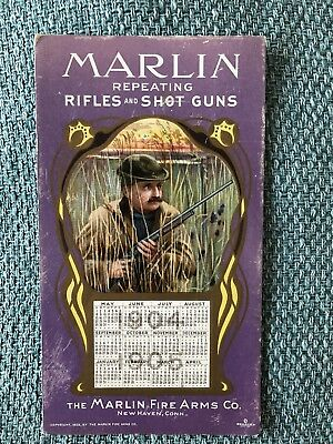 Marlin Firearms 1904 1905 Ink Blotter Calendar Hunter