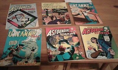 Vintage Alan Class Comics Bundle, Astounding, Uncanny and out of this world.