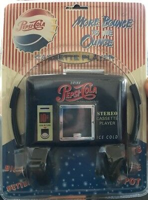 Vintage Pepsi Cola Advertising Cassette Stereo Player Factory Sealed in Package