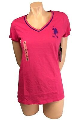 New Polo Ralph Lauren Women Pony Short Sleeve V Neck T Shirt Tee