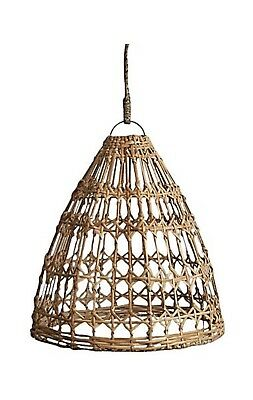 Handwoven Rattan Pendant Light Shade X 2
