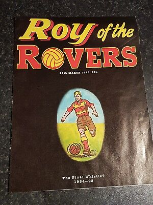 Roy of the Rovers The Last Edition