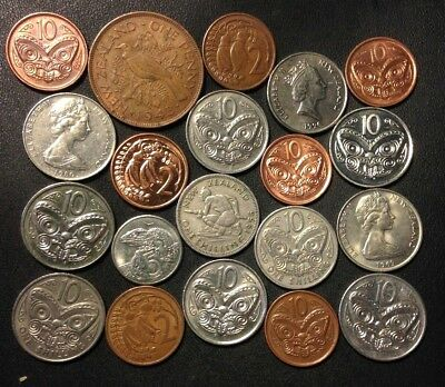 Old New Zealand Coin Lot - 1943-PRESENT - 20 Great Coins - Lot #F21