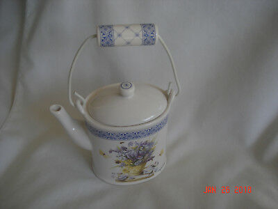 LOVELY Vtg. HALLMARK NATURE'S SKETCHBOOK Marjolein Bastin CERAMIC TEA POT CANDLE