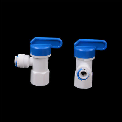 "2X 1/4"" - 1/4"" OD Tube PE Pipe Fitting Hose Elbow Pressure*Barrel Ball Valve spo"