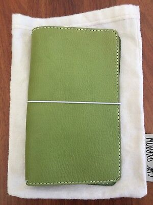 Chic Sparrow Classic Narrow Leather Travelers Notebook Pemberley Fern