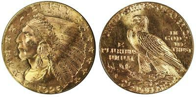 1926 $2 1/2 Indian Quarter Eagle Gold-Lustrous Almost Uncirculated Condition