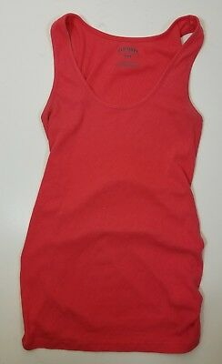 Old Navy Maternity Tank Pink Size Medium Ruch ribbed