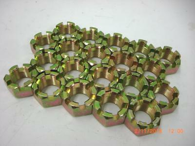 1-14 slotted hex nut, castle nut, Dexter axle nut, QTY 25