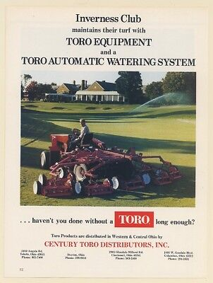 1979 Inverness Club Toro Turf Mower Automatic Watering System Print Ad