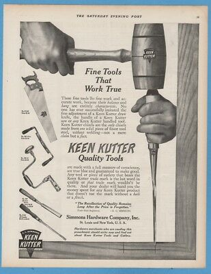 1911 Keen Kutter Simmons Hardware St Louis MO woodworking tools print ad