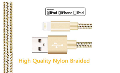 3Pack 10 Ft Lightning Cable Heavy Duty iPhone X 8 7 6 plus Charger Charging Cord