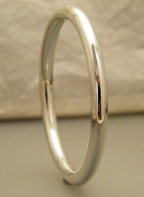"""Silver Classic Golf Creola Baby Bangle Size 45mm - 1 3/4"""" Silver Plated"""