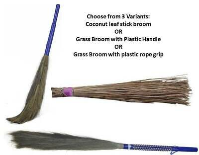 Jhadu Indian Traditional Home Cleaning Broom 3 Variants Assorted Color