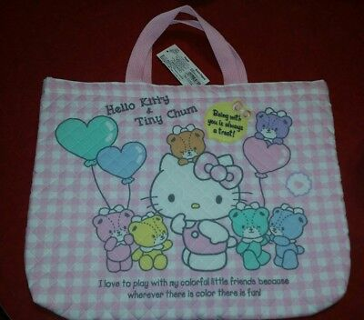 Sanrio Hello Kitty and Tiny Chum quilted purse bag NWT pink