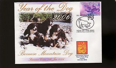 Bernese Mountain Dog 2006 Year Of The Dog Stamp Cov 4