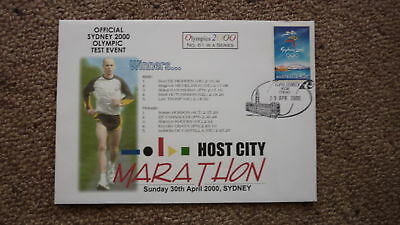 Sydney Olympic Series Test Event Cover, 2000 Sydney Host City Marathon