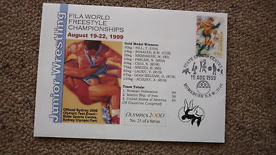 Sydney Olympic Series Test Event Cover, 1999 Wrestling World Championships