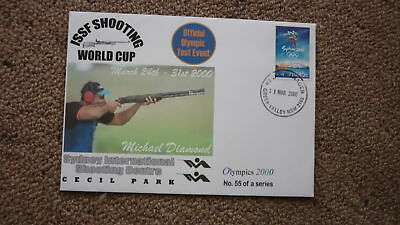 Sydney Olympic Series Test Event Cover, 2000 Issf Whooting World Cup