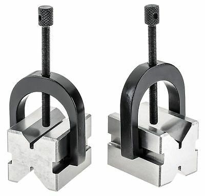 "PRECISION 'V' BLOCK SET 1-3/8"" x 1-1/2"" x 1-3/4"" v block clamp double sided"
