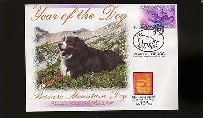 Bernese Mountain Dog 2006 Year Of The Dog Stamp Cov 3