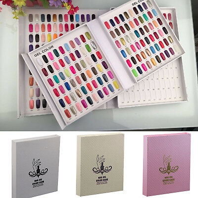 120 Nail Tip Colour Chart Display Book For UV/LED Gel Polish With/Without Tips