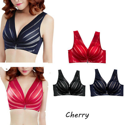 74be3487f5e7d Plus Size Womens Underwire Lace Bra Brassiere Push Up 36 38 40 42 44 Cup  Size