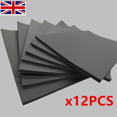 Car Van Sound Proofing Deadening Insulation Closed Cell Foam 12 Sheets 50x30cm