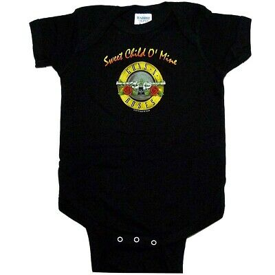 Guns N Roses Sweet Child Baby One Piece Bodysuit Infant Romper Official 0-24