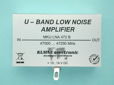 Super Low Noise Amplifier 47 GHz, 6mm Vorverstärker MKU LNA 472 B, DB6NT, Kuhne