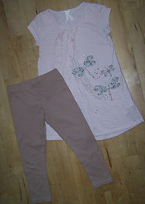 Girls Next Short Sleeve Top & Leggings Set Age 9.