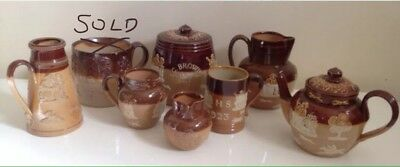 Royal Doulton Lambeth Stoneware Harvest Collection 7 Pieces