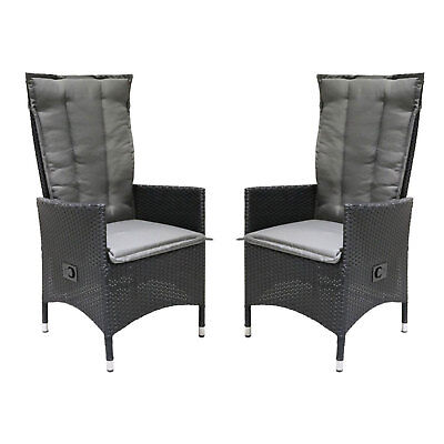 vanage relaxsessel poly rattan gartenstuhl liegestuhl hochlehner 1 2er set m bel eur 79 99. Black Bedroom Furniture Sets. Home Design Ideas
