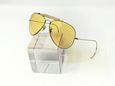 67e11d1fa4f Vintage Ray Ban Ambermatic Aviator Sunglasses BL Bausch and Lomb  Photochromatic