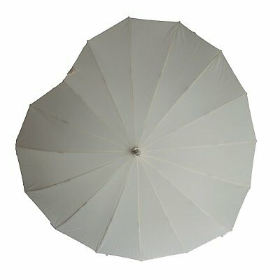 Soake Boutique Heart Shape Long Stick Umbrella (Cream)