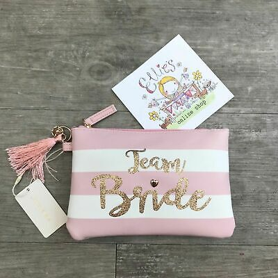 Bride To Be Team Wedding Hen Party Cosmetic Pouch Make-Up Purse Bag Primark Gift