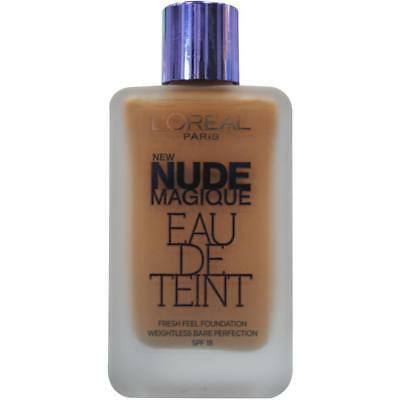 LOREAL 20mL NUDE MAGIQUE FOUNDATION 140 PURE BEIGE SPF 18