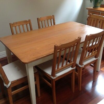 Timber Dining Table and Chairs - 6 seating