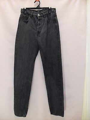 """1980's Vintage High Waisted """"Levi"""" Jeans with Tapered Legs & Button Fly."""