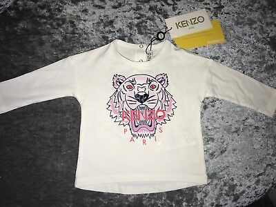 Baby Kenzo Tiger Long T Shirt Age 12 Months