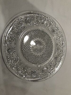 Vintage Clear Depression Glass Antique Lunch Plate 7 1/2""